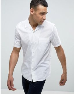 Revere Collar Shirt With Short Sleeves