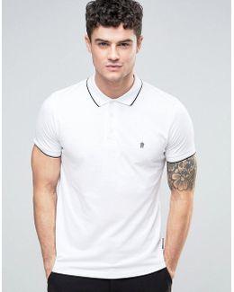 Plain Pique Tipped Polo Shirt