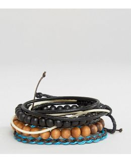 Beaded & Cord Bracelet Pack