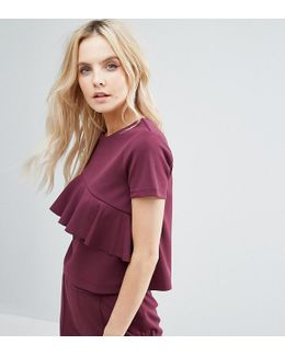 Ruffle Detail Top Co-ord