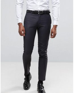 Slim Fit Suit Pants In Charcoal Small Weave