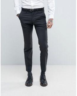 Slim Fit Pin Dot Suit Pants