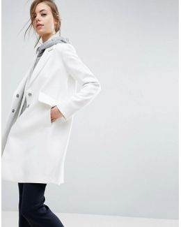 Slim Coat With Pocket Detail In Crepe