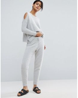 Lounge Co Ord Knitted Joggers In Fluffy Yarn