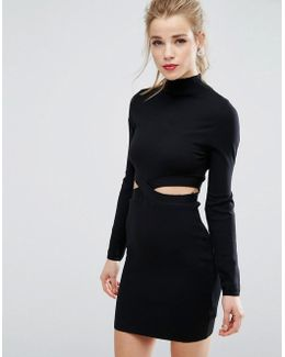 Cut Out Jumper Dress