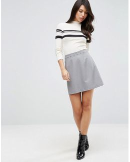 Tailored A-line Mini Skirt