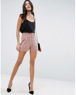Pleated Plisse Shorts