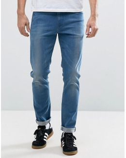 Skinny Jeans In Smokey Mid Blue