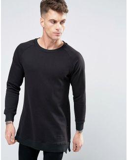 Curved Hem Zip Sweater