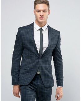 Super Skinny Suit Jacket In Check