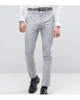Super Skinny Suit Pants In Pale Gray