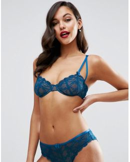 Gianna Lace Underwire Bra With Satin Detail