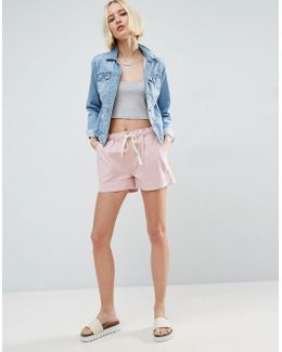 Linen Drawstring Casual Shorts