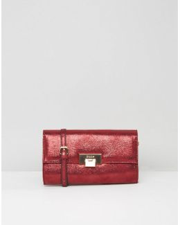 Buckle Detail Clutch Bag