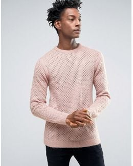 Textured Pointelle Jumper