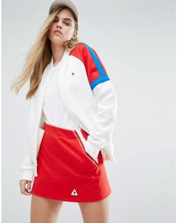 Sweat Bomber Jacket With Colour Block Panels
