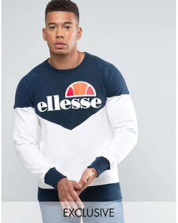 Chevron Sweatshirt With Classic Logo