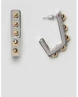 Ball Studded Hoop Earrings