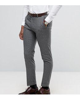 Slim Suit Pants In Salt N Pepper