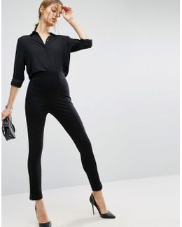 Super High Waisted Trousers With Ankle Zips