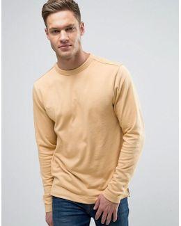 Sweatshirt With Open Hem