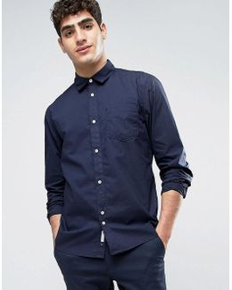 Shirt In Washed Cotton In Regular Fit