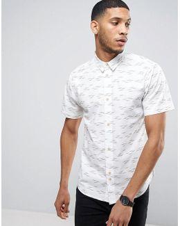 Shirt In Gull Print In Regular Fit
