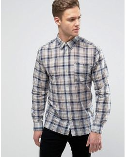 Lightweight Checked Shirt In Regular Fit