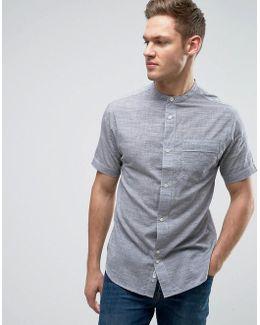 Shirt With Grandad Collar