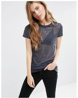 Short Sleeve Double Layered Top