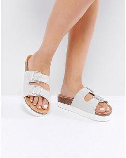 Lacie Double Buckle Flatform Sandal
