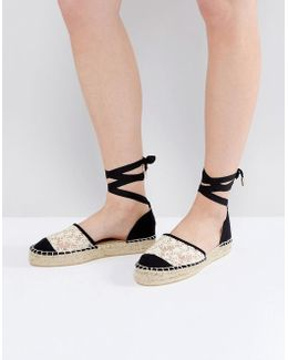 Lorna 2part Flower Espadrille