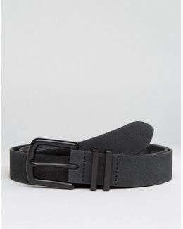 Smart Suede Belt With Coated Keepers