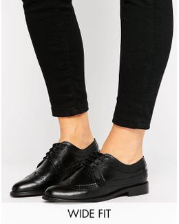 Mai Wide Fit Leather Brogues