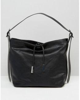 Minimal Drawstring Bucket Shoulder Bag