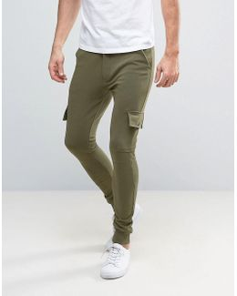 Skinny Fit Cargo Pant In Sweat