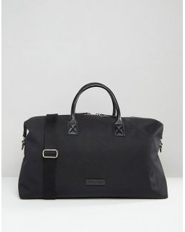 Nylon Holdall With Leather Trims