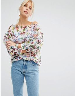 Off Shoulder Top In Floral Print