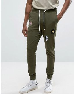 Joggers With Badge Detailing
