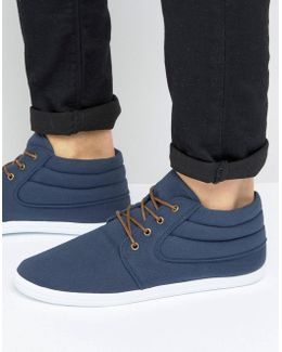 Chukka Boots In Navy Canvas