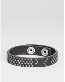 A-studdler Leather Bracelet In Black