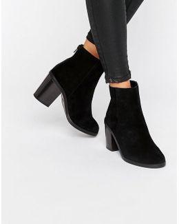Suede Block Heel Boots