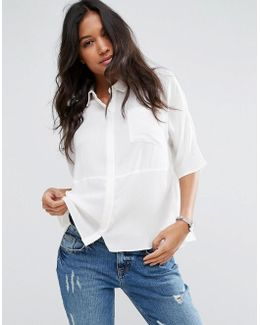 Boxy Blouse In Crinkle