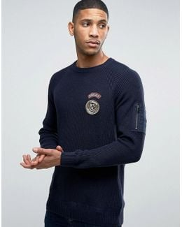 Originals Ribber Sweater With Military Patches