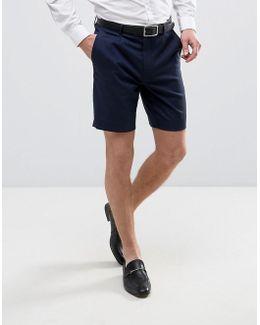 Tailored Slim Shorts In Navy