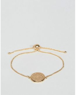 Filigree Disc Chain Bracelet