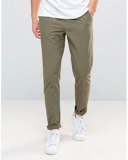 Tie Waist Slim Chino Pants