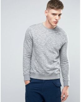 Basic Crew Neck Sweatshirt In Grey