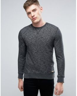 Basic Crew Neck Sweatshirt In Black