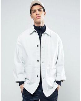 Denim Worker Jacket In Bleach Wash